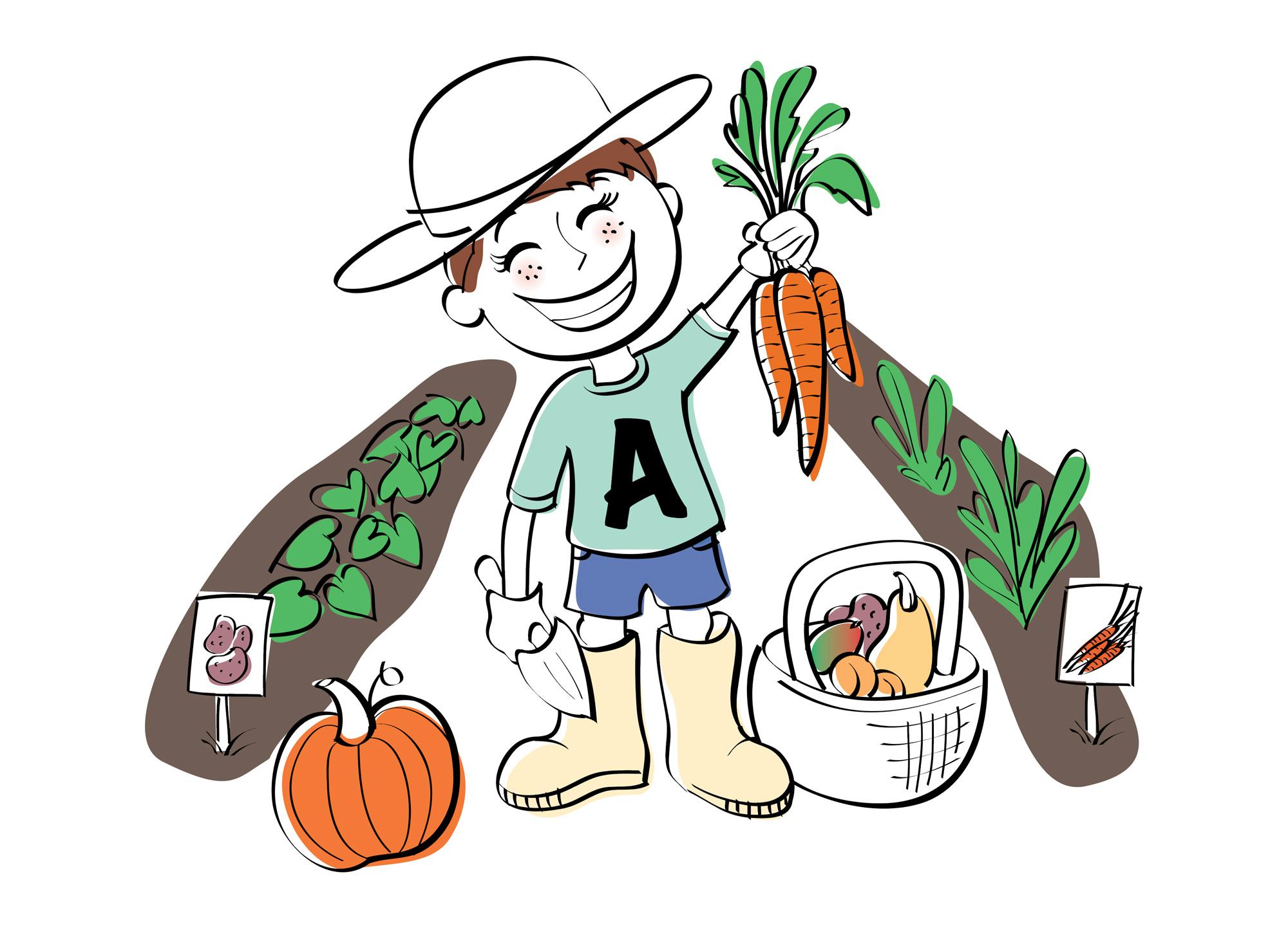 Vitamin C child gardener