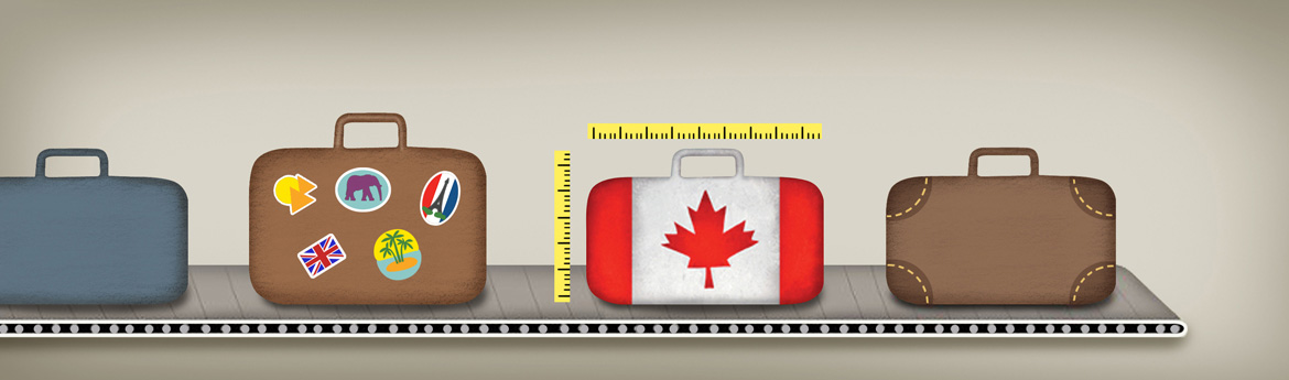 Canadian travel baggage size